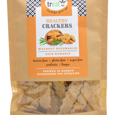 Healthy glutenvrije cracker walnoot-rozemarijn