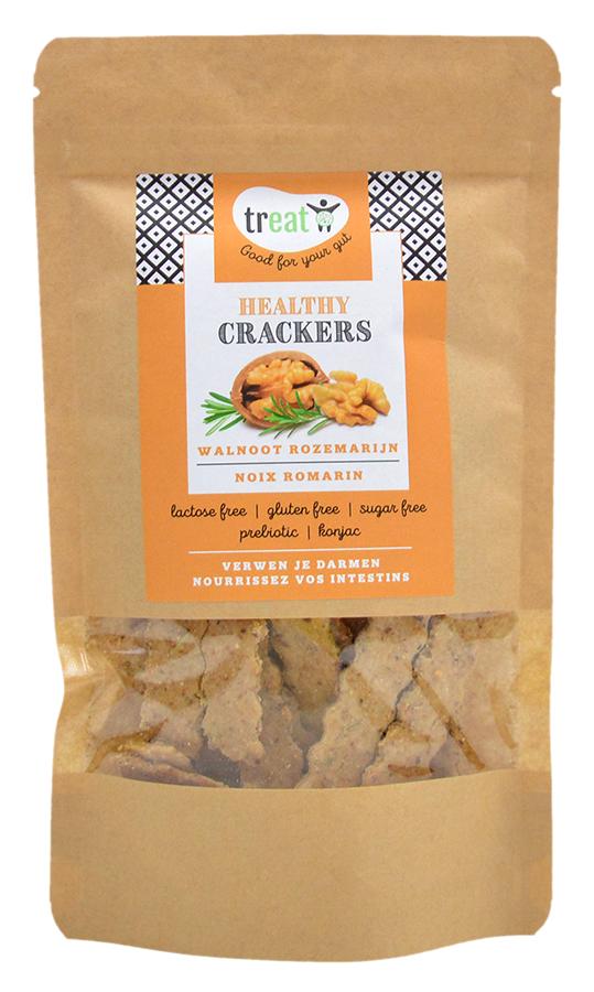 Healthy glutenvrije cracker walnoot-rozemarijn